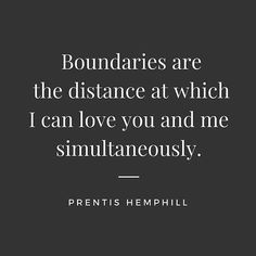 Boundaries are the distance at which I can love you and me simultaneously. True Quotes, Best Quotes, Motivational Quotes, Inspirational Quotes, Healthy Relationships, Relationship Tips, Boundaries Quotes, Happiness, Love Words