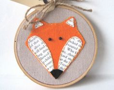 Embroidery Hoop Art - Mr Fox