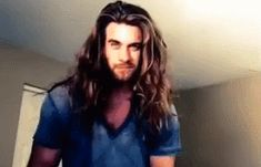 """Tumbled Squees, This may be my new fave """"man with long hair"""" gif..."""