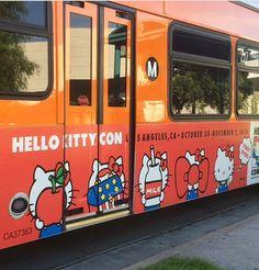 Hello Kitty Con 2014 wrapped Bus