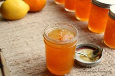 Bright and citrus-filled, homemade orange lemon marmalade will brighten any winter's morning. With a bit of preparation now, you can easily make and preserve this marmalade then enjoy it in the months to come. Lemon Jelly Recipe, Jelly Recipes, Lemon Recipes, Dessert Recipes, Lemon Marmalade, Marmalade Recipe, Lemon Curd, Jelly Maker, Jam Maker