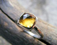 Whiskey Quartz Ring Citrine....pretty......different