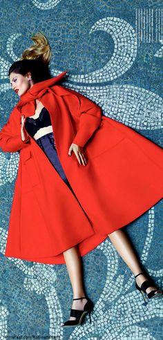 Bianca Balti by P. Ferrari for Tatler Russia September 2013, wearing Christian Dior