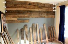 wood pallet wall pinterest inspiration