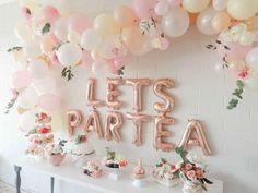 Sweet little girls tea party birthday theme Girls Tea Party, Princess Tea Party, Tea Party Theme, Tea Party Birthday, Girl 2nd Birthday, Girls First Birthday Theme Ideas, 50th Birthday, First Birthday Brunch, Tea Party Games