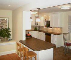 kitchen peninsula ideas   33 Kitchen Islands and Peninsulas with Dining Area Making Kitchen ...