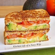 Avocado, Mozzarella and Tomato Grilled Cheese. Its like the adult grilled cheese. Avocado, Mozzarella and Tomato Grilled Cheese. Its like the adult grilled cheese. was last modified: February I Love Food, Good Food, Yummy Food, Tasty, Vegetarian Recipes, Cooking Recipes, Healthy Recipes, Bread Recipes, Quick Recipes