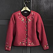 let's set this aside for the Christmas season -- Belvedere Palace Wool Jacket Boiled Wool Jacket, Knit Jacket, Cardigans For Women, Jackets For Women, Clothes For Women, Sandy Style, Cool Style, My Style, Costume Design