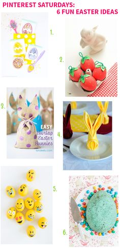 Pinterest Saturdays: 6 Fun Easter Ideas on Style for a Happy Home // Click for details