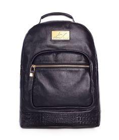 10fc7aaa1 Mochila feminina de couro legítimo Andrea Vinci preta - Enluaze Loja  Virtual | Bolsas, mochilas