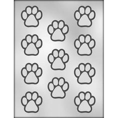 1 1/2 inch Paw Print Chocolate Mold C90-11275 for 101 dalmations and lady and the tramp