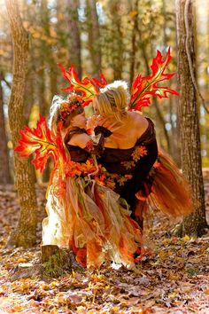 OOAK Iridescent Maple Leaf Autumn Fall Woodland Fairy Wings
