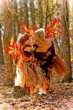 OOAK Iridescent Maple Leaf Autumn Fall Woodland Fairy Wings