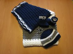 Dallas Cowboys Inspired Baby Blanket/Hat & Booties Set on Etsy, $115.00