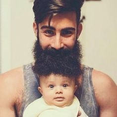 Brilliant - one of the main reasons I make sure my #beard is cared for and ultra soft is for cuddles with my son. #beardeddads #beardedbasturds #killtheshave #scotland #beardsofinstagram