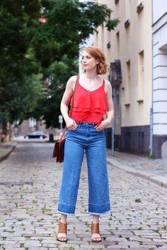 Trend 2016, Jeans Culotte, Hose, Sommer Look, Outfit, Tipps, Streetstyle, Modetipps, Finde deinen Stil, Influencer, Deutschland, Berlin, Mode…