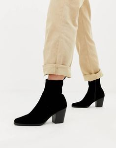 8df85b170f9 ASOS DESIGN Rodeo clean western ankle boot Rodeo