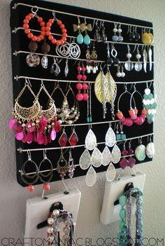 Encore une bonne idée de rangement des bijoux