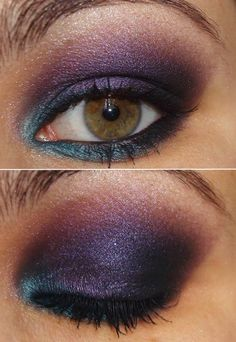 color blocking with Urban Decay Eyeshadow Palette 15th Anniversary