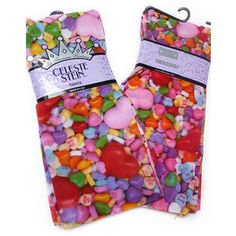 Candyland Tights- These make me really, really happy... And they'd go so well with my candy-colored clothes!
