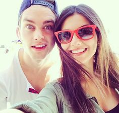 Victoria Justice's selfie with Pierson Fode!