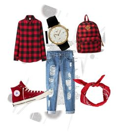 """""""Untitled #4"""" by selmasiljic ❤ liked on Polyvore featuring Komar, Converse, Uniqlo and Forever 21"""