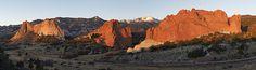 Panorama photography of Garden of the Gods, Colorado Springs, Colorado at sunrise - Aaron Spong -  http://aaron-spong.artistwebsites.com