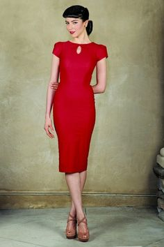 Stop Staring! Red Bow Pencil Dress 100 20 14824 03272015 1
