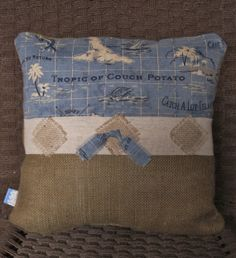 Tommy Bahama Nautical Pillow Island Song Ocean by Floatinteriors, $35.00