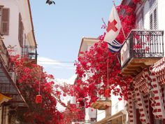 Symphony in red-Nafplio Greece
