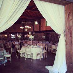 Barn draping at Honsberger Estate  flower barn wedding boho rustic chic garden bouquet bridemaids #oohlaladesigns