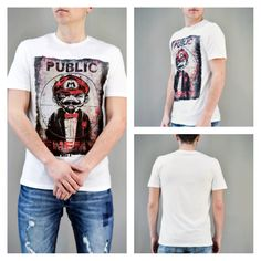 Look of the day: PUBLIC ENEMY!!! Ανδρικό t-shirt Super Mario Public Enemy.  #metaldeluxe #men #mensclothes #mensfashion #menstshirt #menstyle #fashion #shopping #onlineshopping #tshirt #super_mario #public_enemy #white #summer