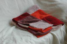 Couverture bébé, rose et orange, très douce tricotée main : Puériculture par 3radis