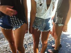 I like the first one.. Hot Pants + jeans + studs = a super edgy/sexy summer..      http://chanelkatarina.files.wordpress.com/2012/03/studdedjeanshorts.jpg