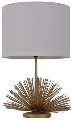 Threshold Urchin Figural Accent Lamp Brass - $33.24