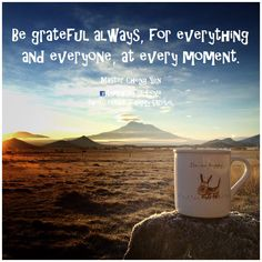 Be grateful always for everything and everyone at every moment. - Master Cheng Yen