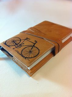 leather journal sketchbook handprinted