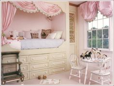 Kids Room Ideas For Girls Sisters Small Spaces.Shared Little Girls Bedroom Love It Because Each Of Them . Decor Ideas For A Kid's Room Real Simple. Lovely Pastelligt Credit: A S T E L_haven Kids Room . Home and Family Alcove Bed, Bed Nook, Cozy Nook, Bunk Beds Built In, Princess Room, Princess Beds, Princess Kitchen, Pink Princess, Little Girl Rooms