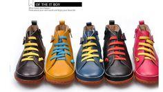 Дети в обувь девочки мальчики обувь натуральная кожа дети обувь воздухопроницаемый девочки сапоги купить на AliExpress