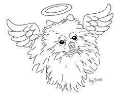 Картинки по запросу померанский шпиц силуэт | Dog ...