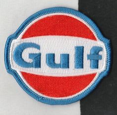 GULF OILS RACING TEAM COLOURS 7CM CLOTH SEW ON RACE SUIT PATCH PORSCHE 917 GT40 Racing Stickers, Racing Team, Race Cars, Porsche, Decals, Patches, Colours, Sewing, Art