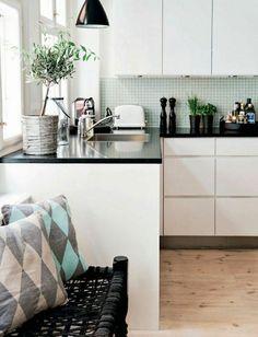 Belle idée pour la décoration de votre cuisine blanche