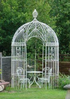Wirework Gazebo in Gazebos and Rose Arches from The Vintage Garden Company