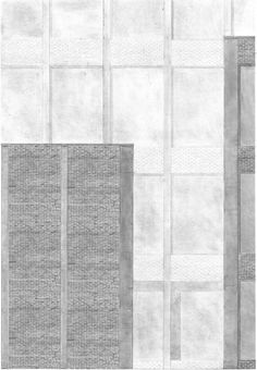 1:20 measured drawing of proposed concrete and brick facade