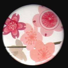 Cherry Blossoms Button by kohaku16 on Etsy, $3.00