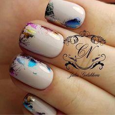 Metallic Foil Manicure