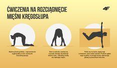 Ćwiczenia na rozciągnięcie mięśni kręgosłupa Health Fitness, Pilates, Advice, Yoga, Sports, Beauty, Workouts, Pop Pilates, Hs Sports