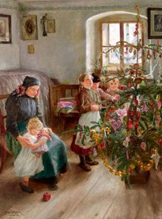 Christmas , Emil Czech (1862 – 1929, Czech) I AM A CHILD-children in art history-blog