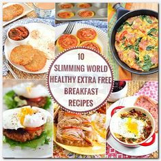 Slimming 10 delicious Healthy Extra Free Slimming World Breakfasts for those days when you want bread, cheese or milk etc later in the day. Syn Free Breakfast, Easy Healthy Breakfast, Healthy Eating, Breakfast Time, Breakfast Recipes, Protein Breakfast, Healthy Breakfasts, Dinner Healthy, Breakfast Ideas