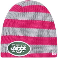 17ff62c53 New Era New York Jets Ladies Breast Cancer Awareness Knit Hat - Pink/Gray  Sports